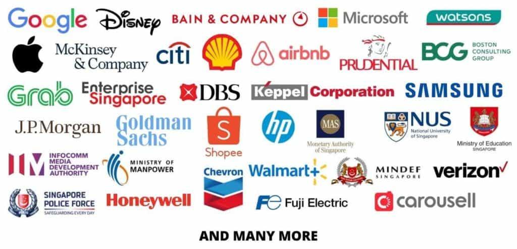 Virtual Escape Room Singapore - Client Logos
